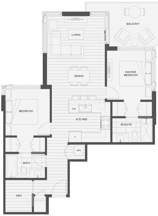 Novella floorplan Coquitlam condos