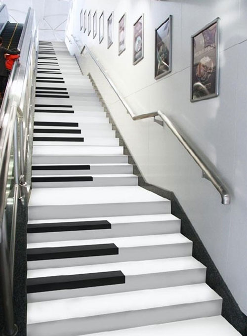 Piano key stairs