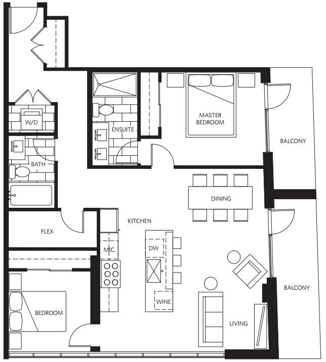 West Five floorplan