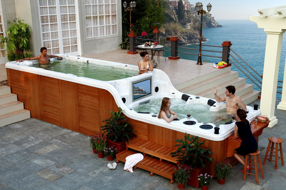giant hot tub party