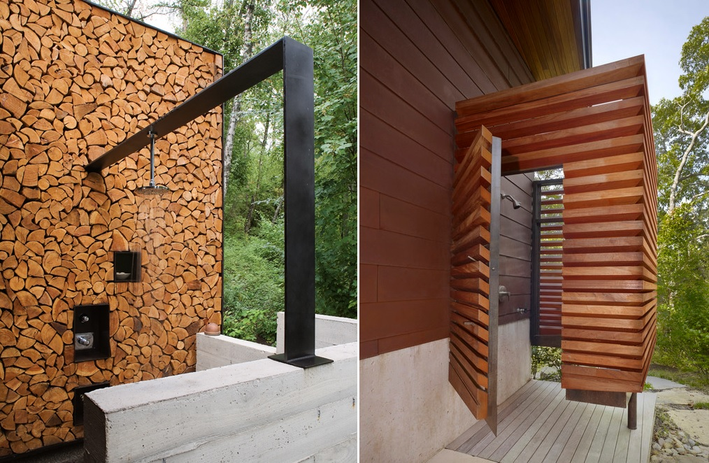 outdoor showers cottage
