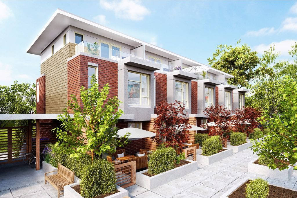 Bennet courtyard Vancouver townhomes