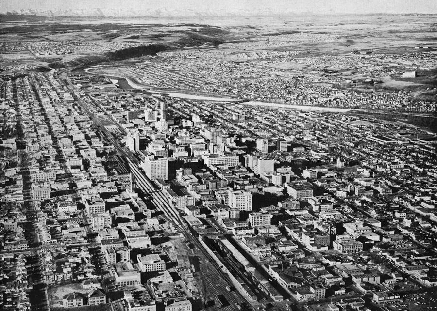 Calgary 1960 aerial