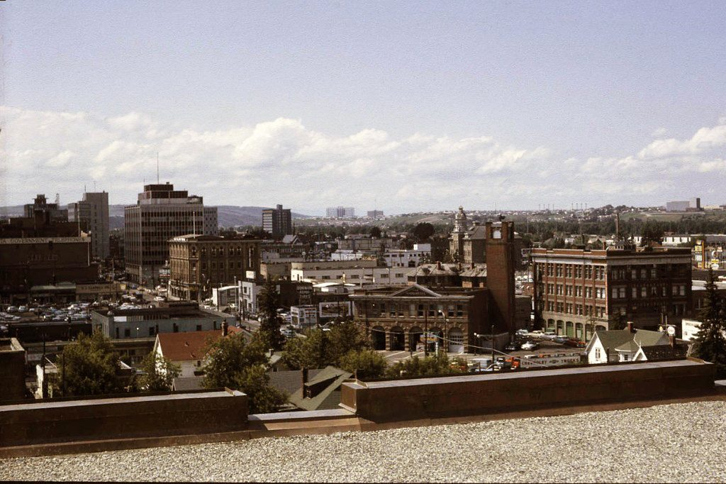 Calgary 1961 rooftop view