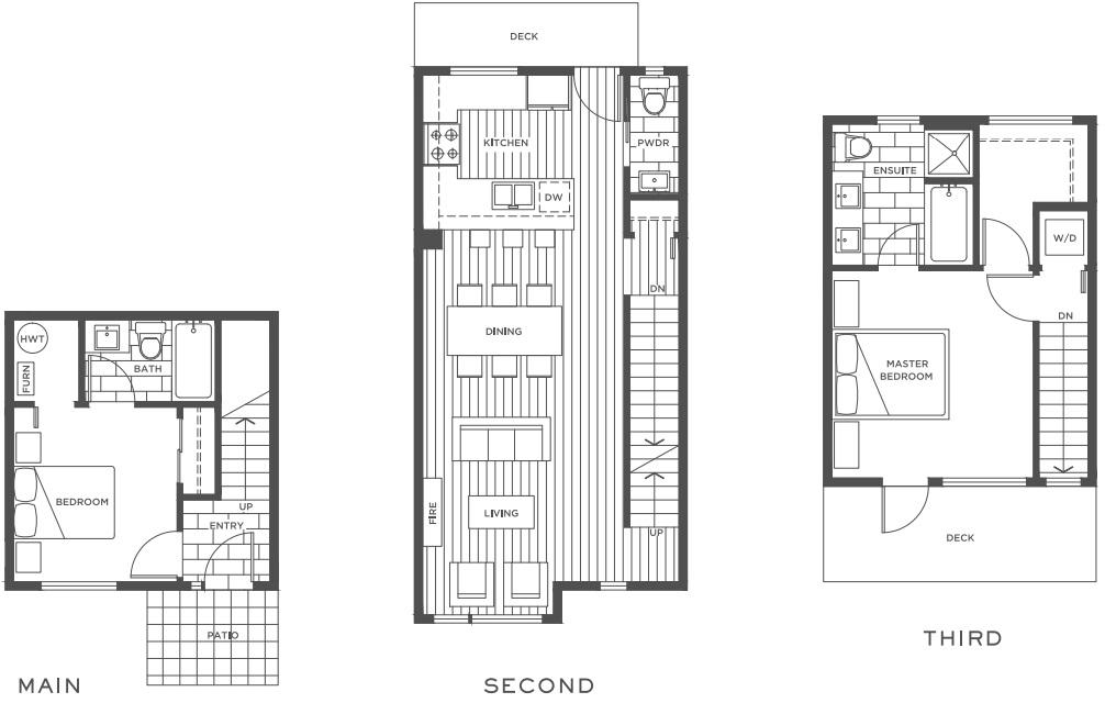 Hamilton floorplan Vancouver townhomes