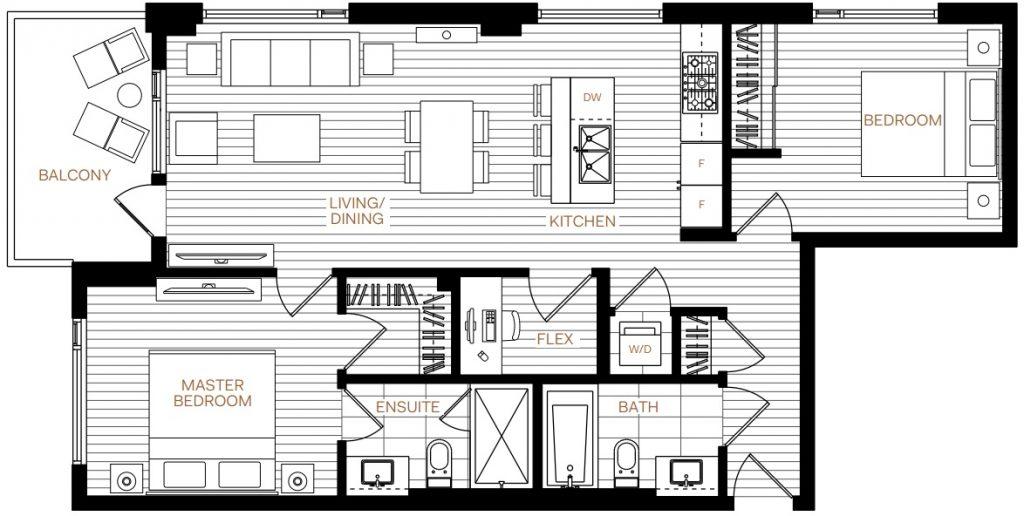 Livingstone House D1 floorplan