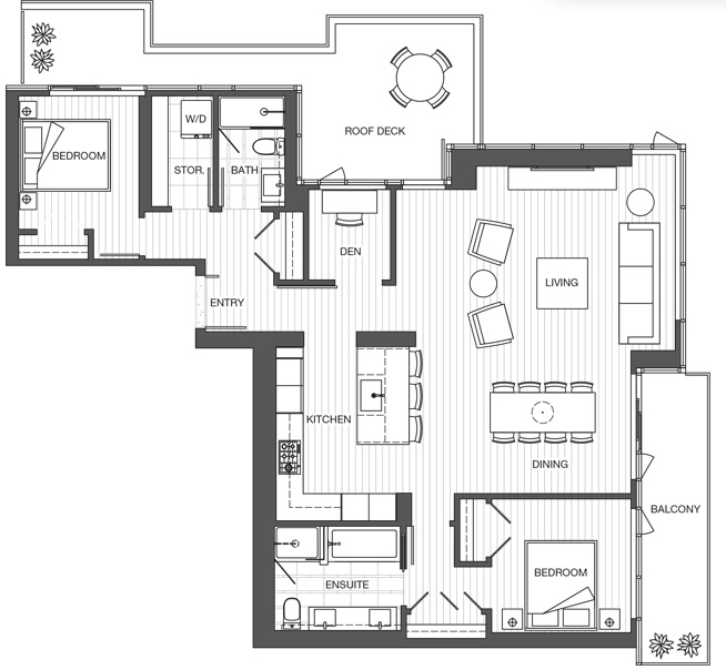 Park Point sub penthouse floorplan