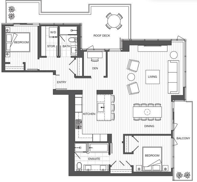 Park Point sub penthouse floorplan