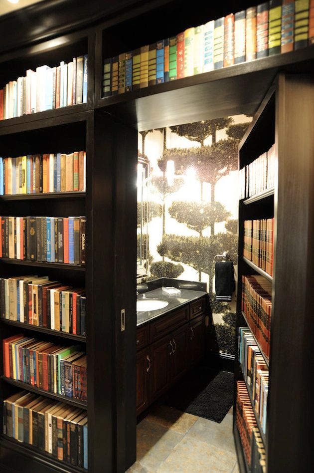bookcase hidden bathroom