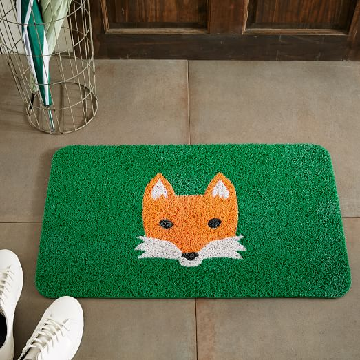 fox floor mat