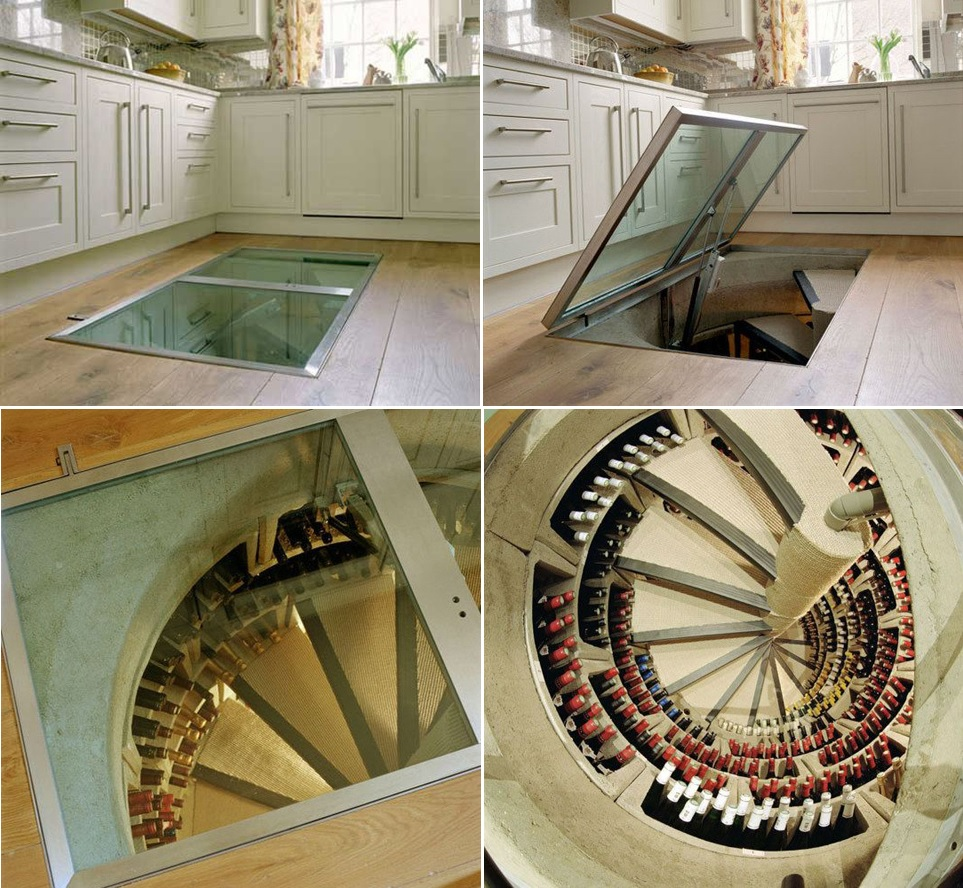 hidden wine cellar