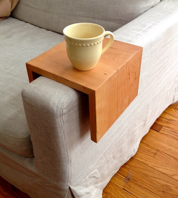 tiny apartment arm table
