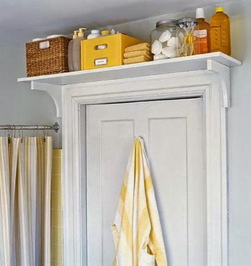 tiny apartment doorway shelf