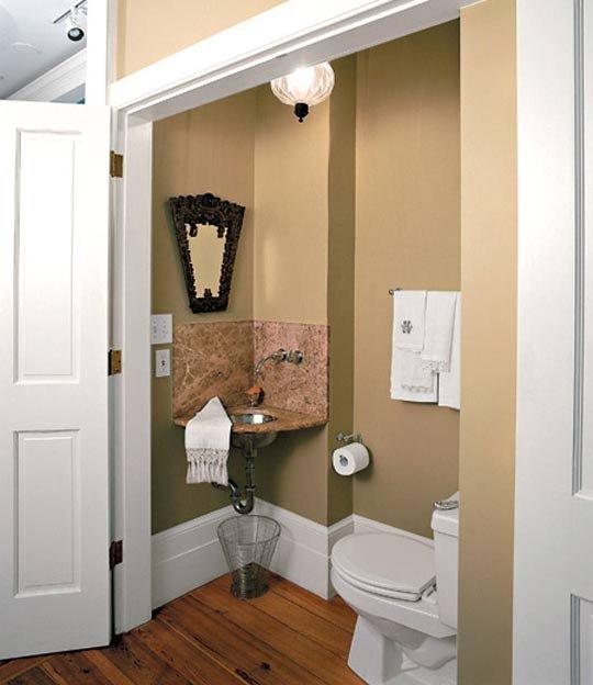 unused closet bathroom