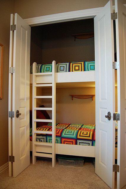 unused closet bunk bed