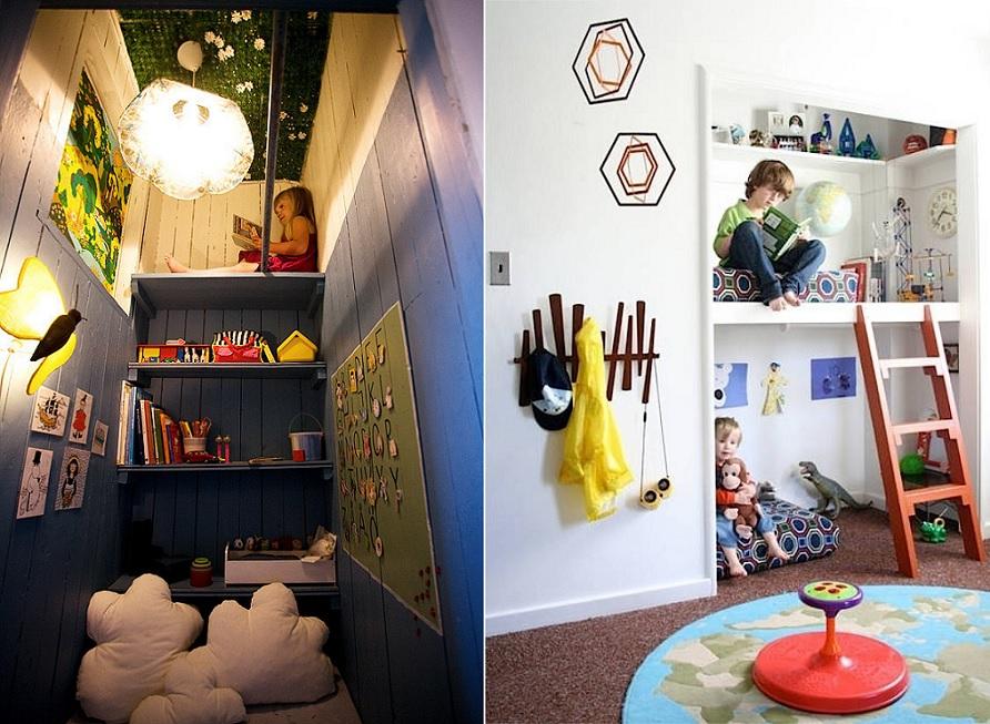 unused closet kids play area