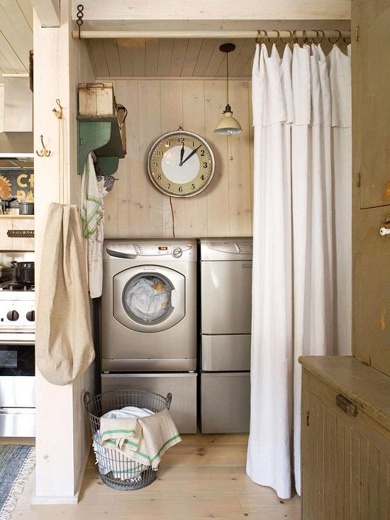 unused closet laundry room