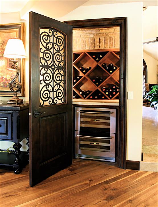 unused closet wine cellar