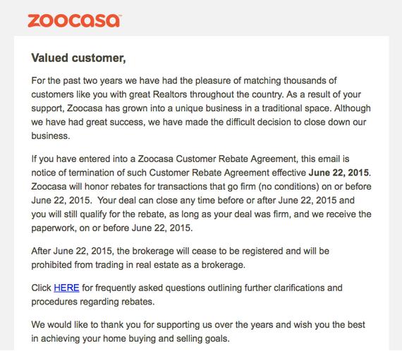 zoocasa letter