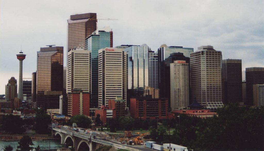 Calgary skyline 2000