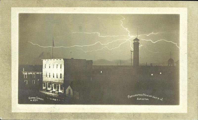 Lightning storm Edmonton