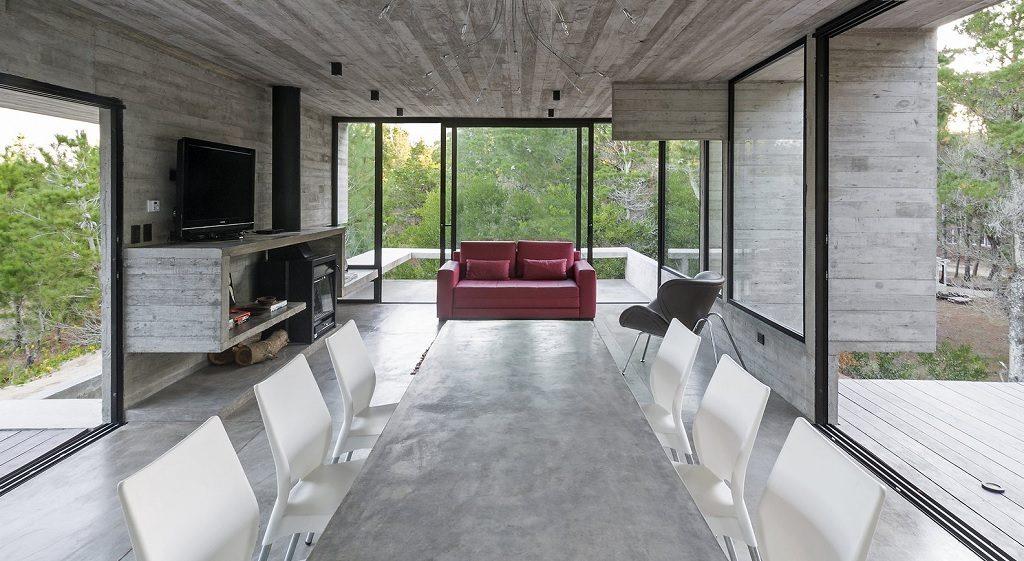 concrete dining room