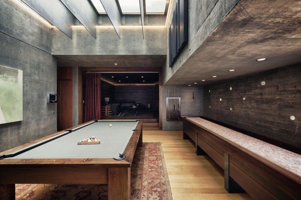 concrete games room