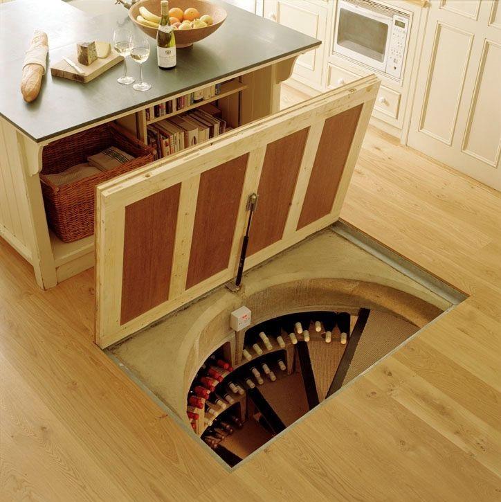 trapdoor wine cellar