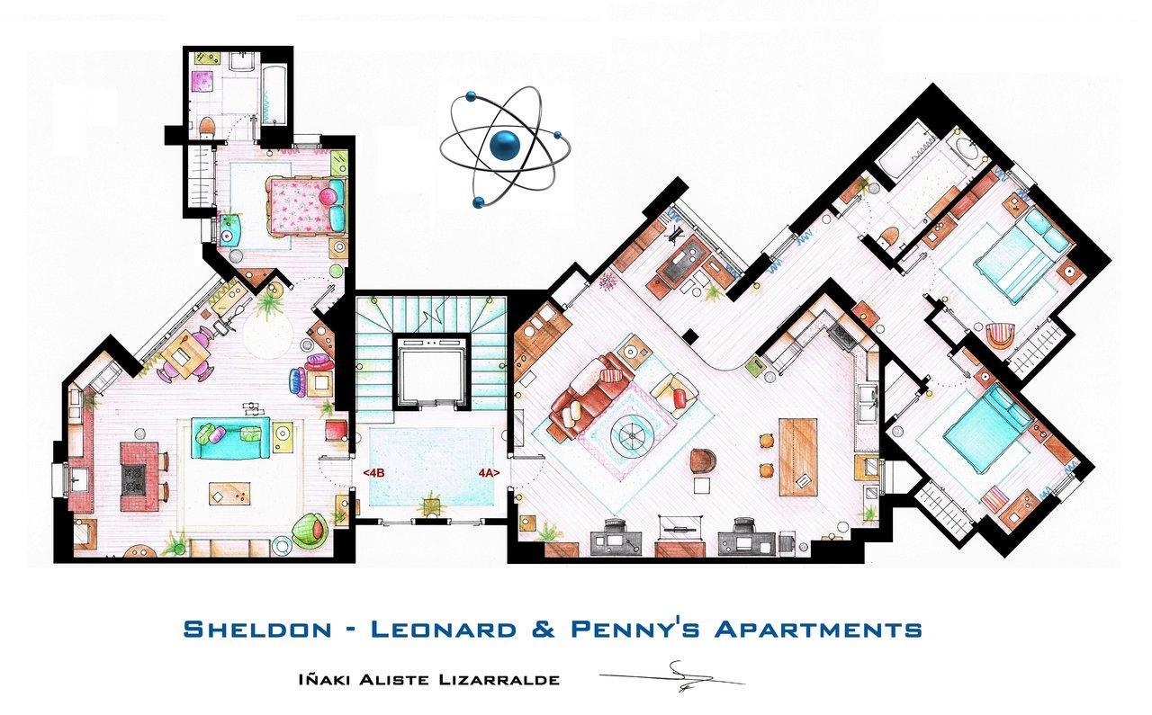 Big Bang Theory floorplan
