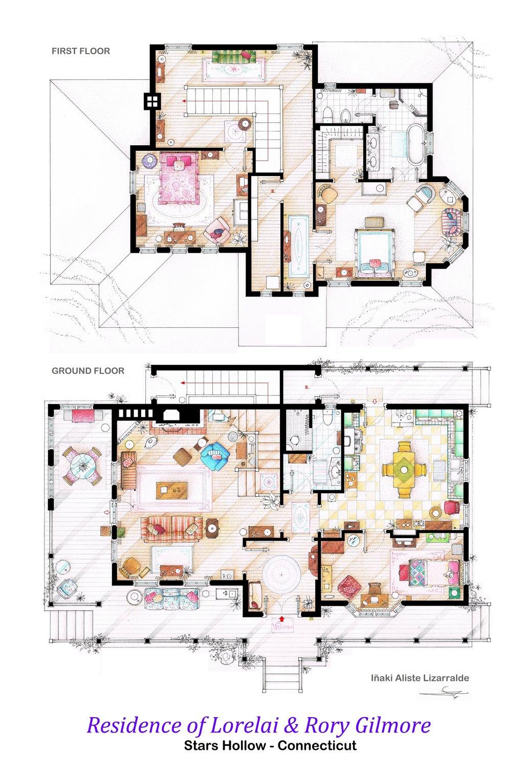 Gilmore Girls floorplan