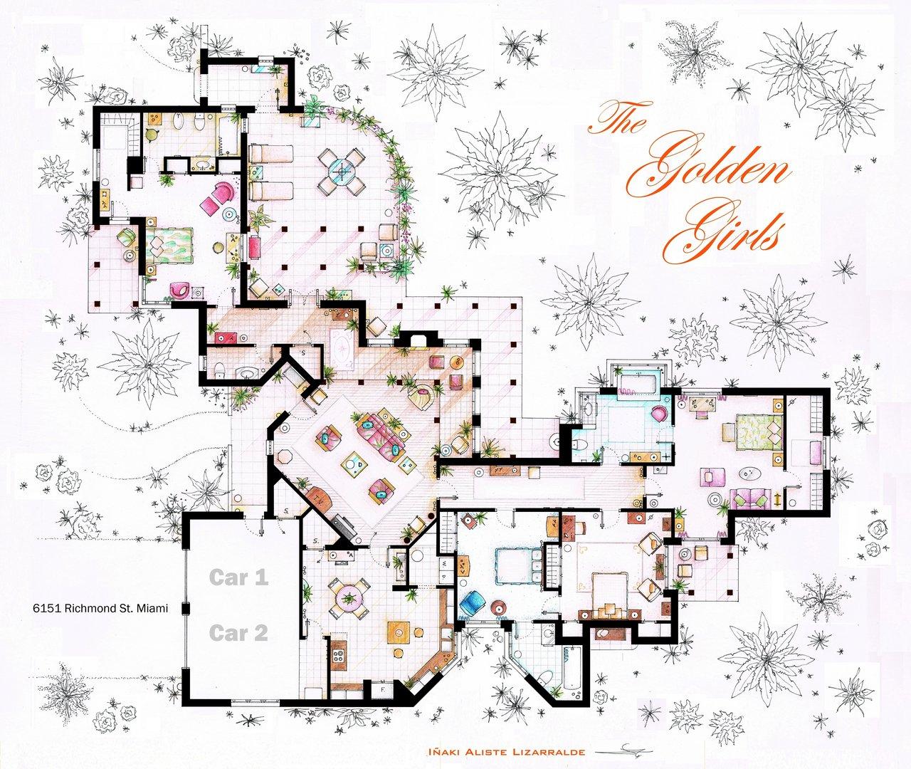 Golden Girls floorplan