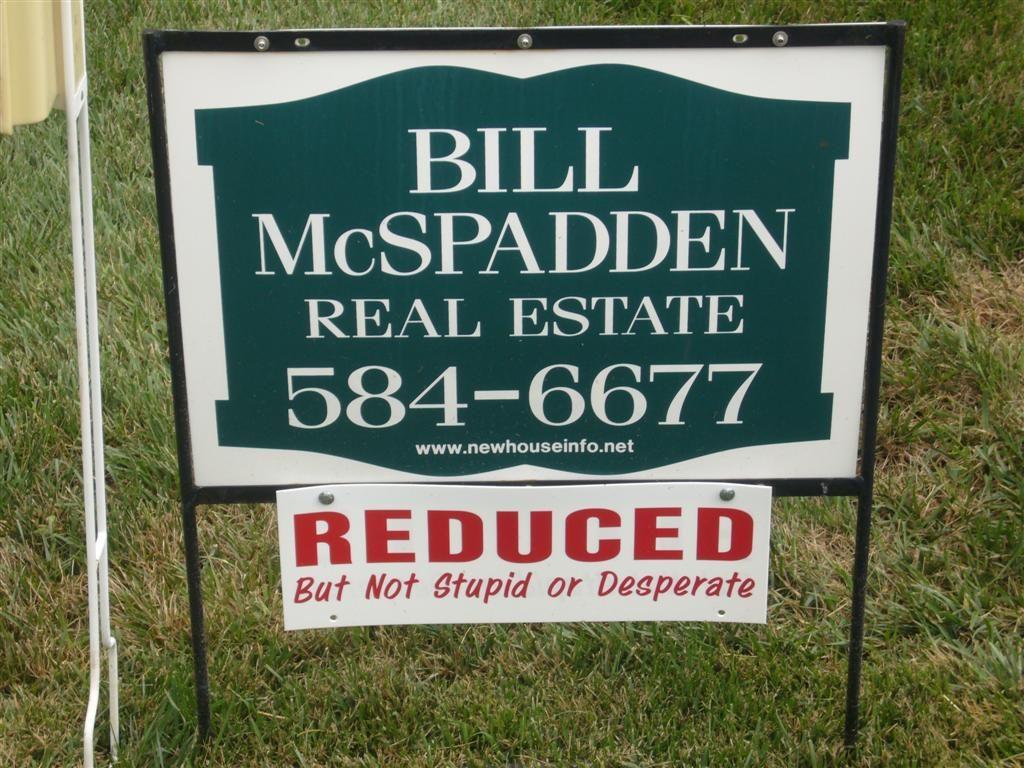Honest real estate sign 2