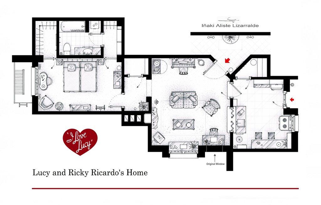 I Love Lucy floorplan