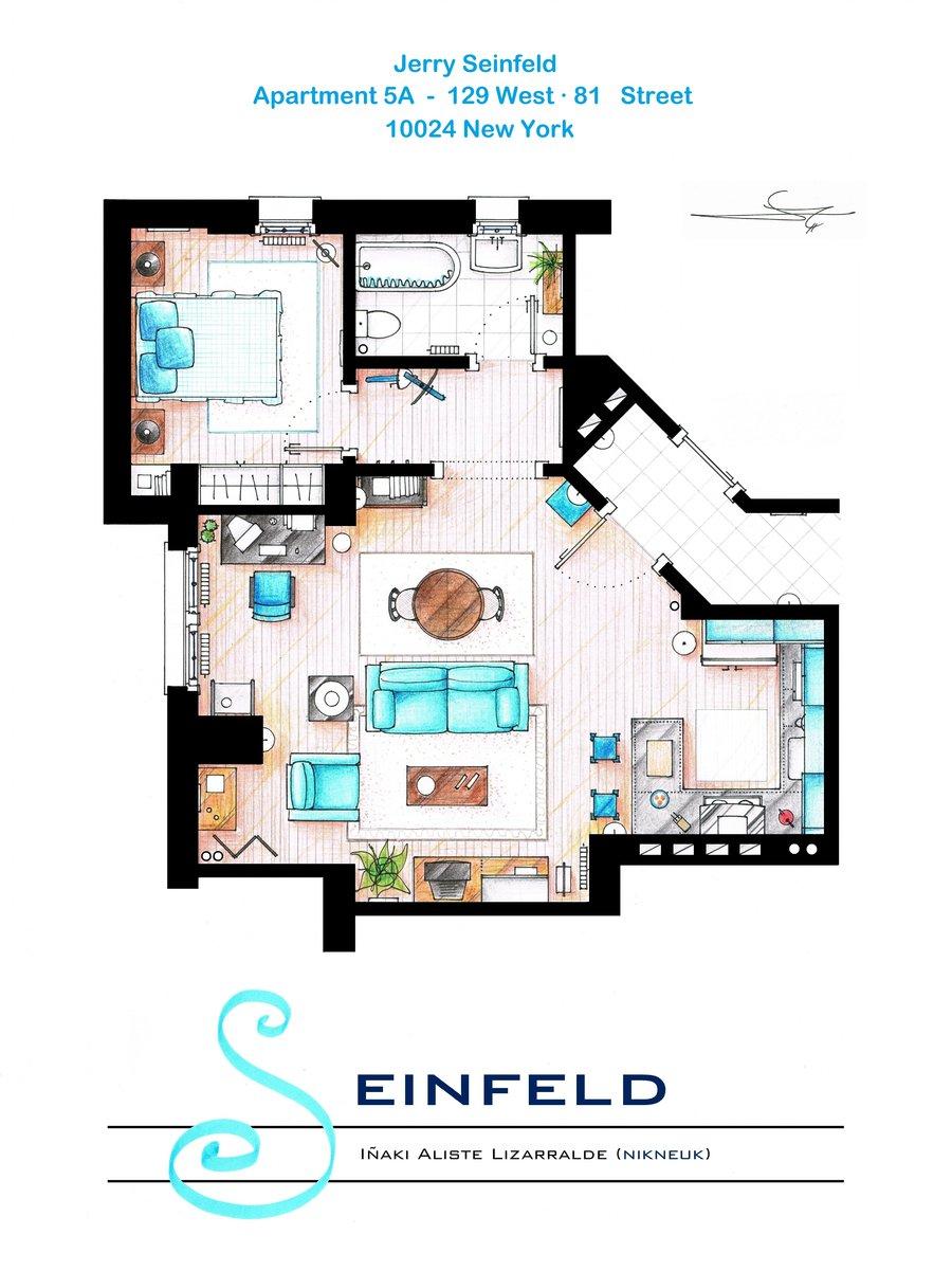 Jerry Seinfeld floorplan