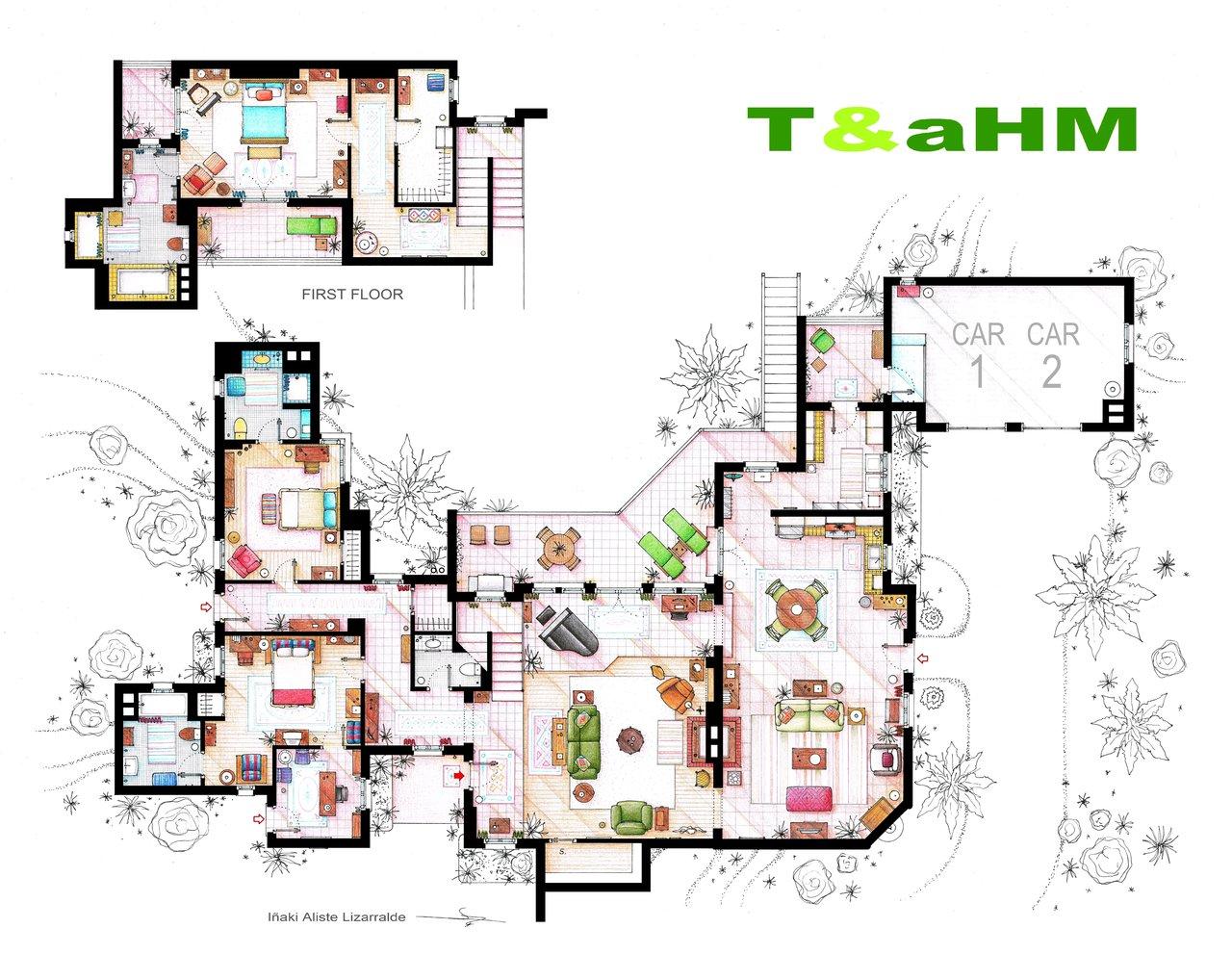 Two and a Half Men floorplan