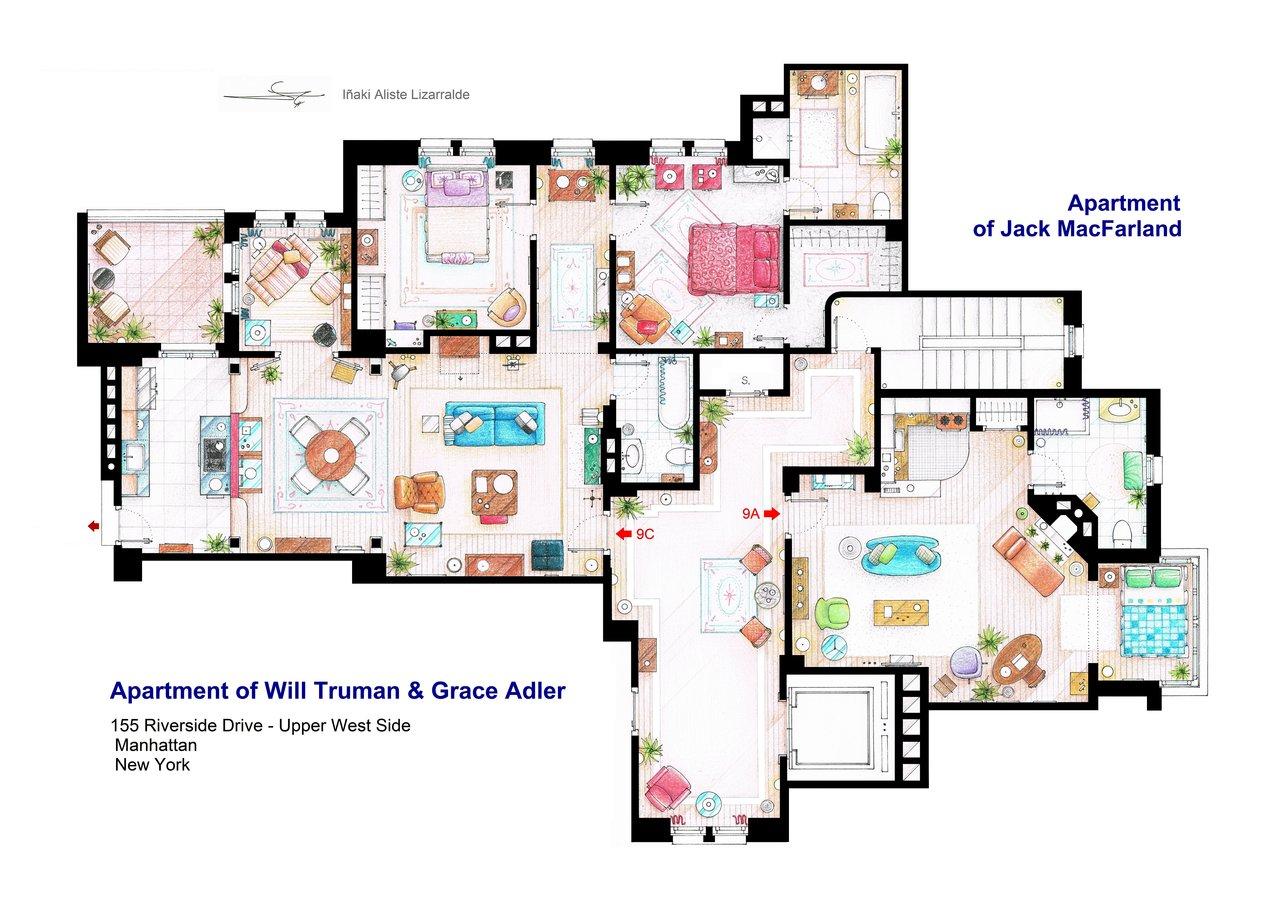 Will and Grace floorplan