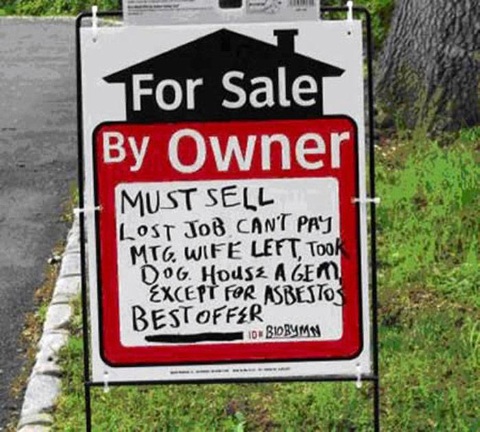 honest real estate sign 5