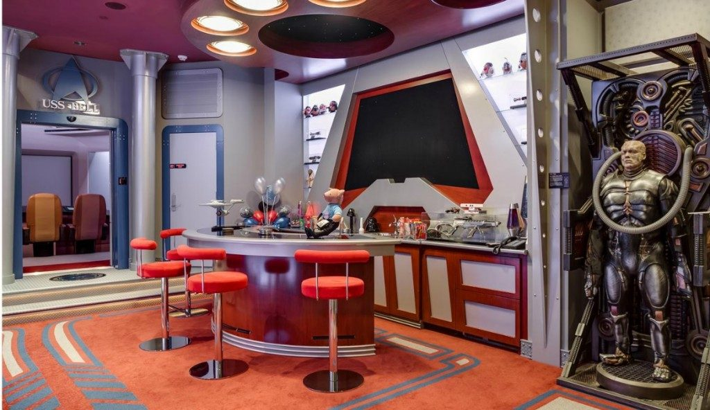 star trek home bar