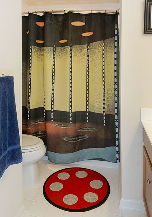 star trek shower curtain bath mat