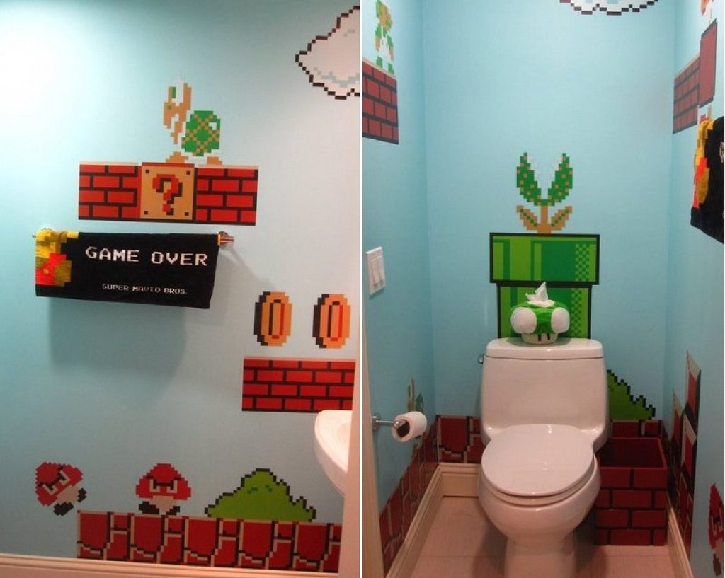 super mario bros bathroom