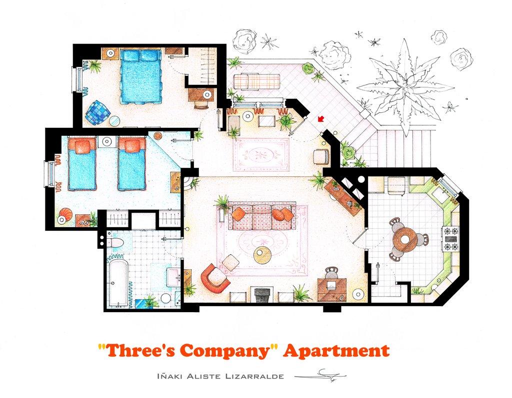 three's company floorplan