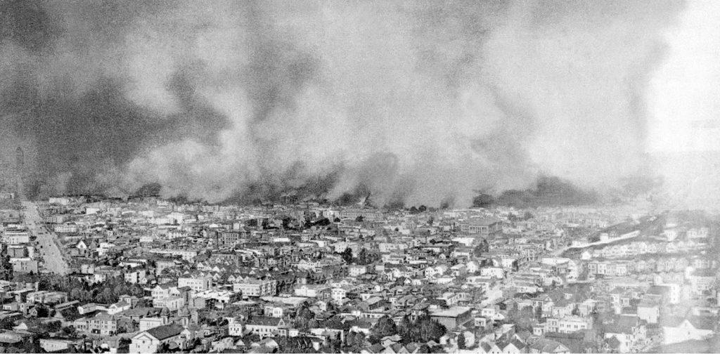 San Francisco 1906 earthquake fire damage 4