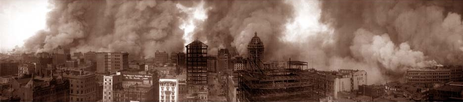 San Francisco 1906 earthquake fire damage