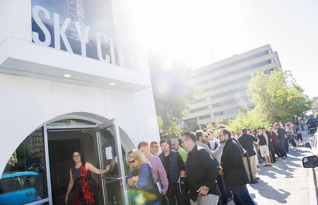 SkyCity Centre Winnipeg condos VIP opening