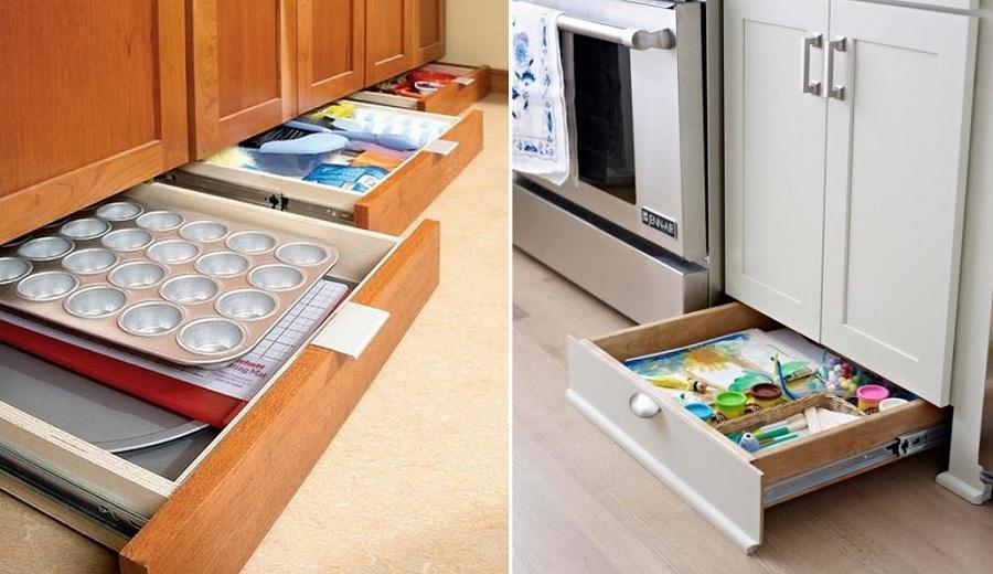 baseboard drawers