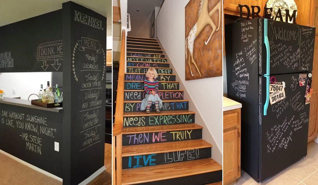 chalkboard surfaces