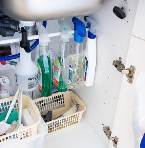 cleaning supplies kitchen hack