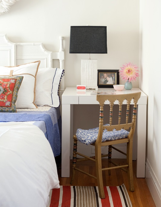 desk nighstand tiny bedroom hack