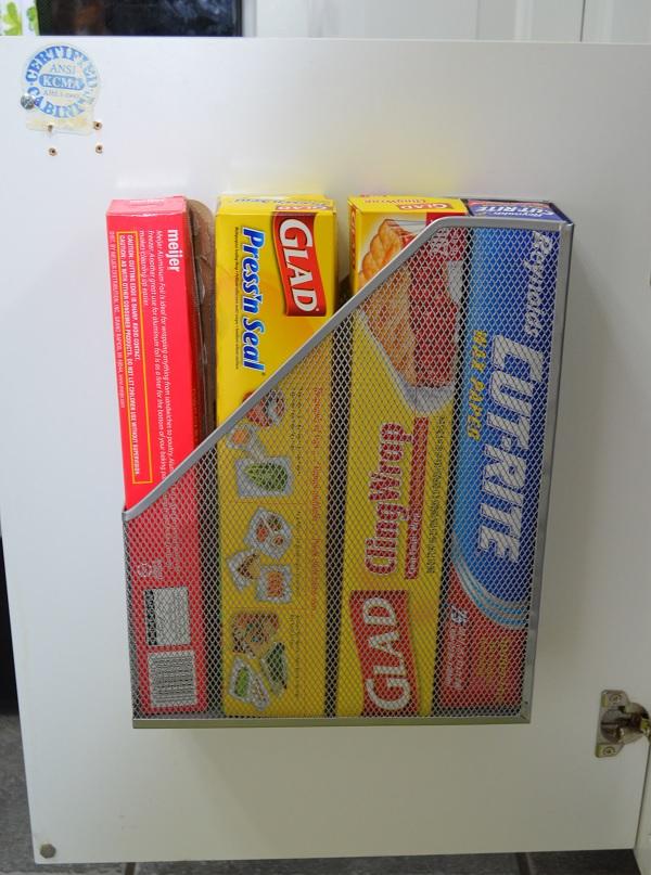 kitchen hack magazine rack storage