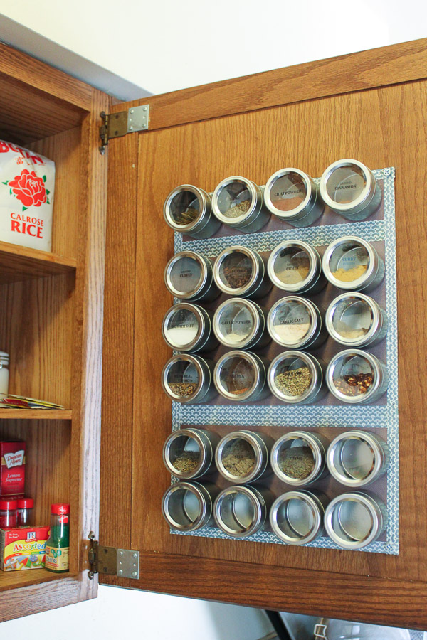 magnetic spice rack kitchen hack